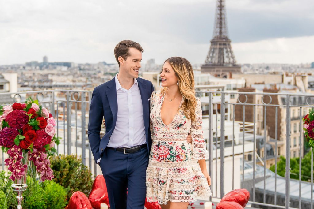 Parisian rooftop photos with Eiffel Tower