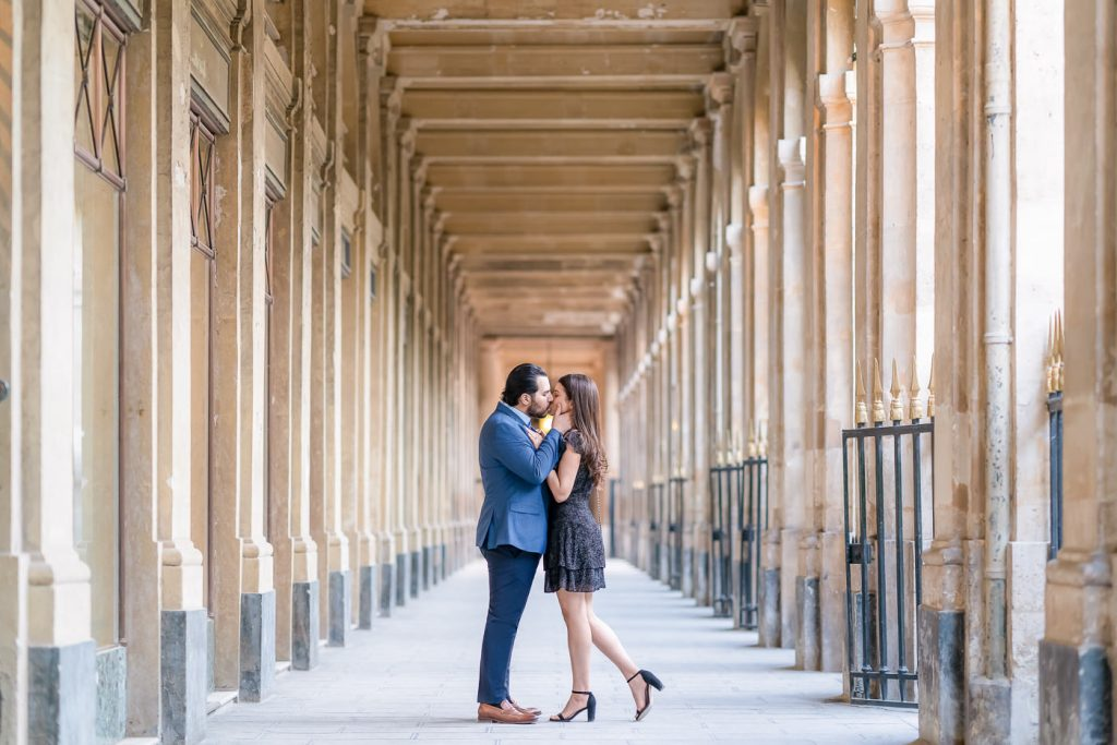 Unusual photo locations in Paris for couple pictures Palais Royal