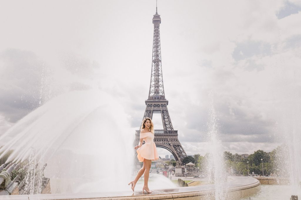 Eiffel Tower pictures at the fountain of Trocadero
