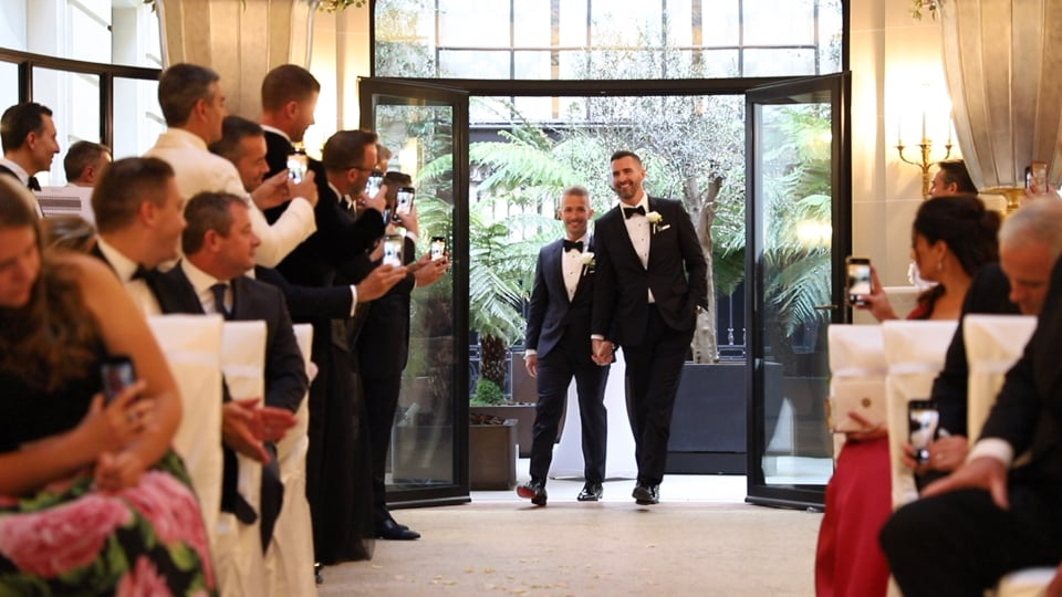 Insanely touching same-sex wedding at the Peninsula Hotel Paris will have you grabbing for Kleenex